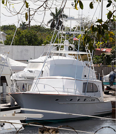 1969 Rybovich boat Value: Some reports put the boat's value at $2.2 million. Status: The 24-foot boat was one of at least three boats seized by federal marshals. It was taken from a Florida marina on April 1.