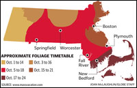 Fall Foliage Timetable