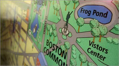 Found in the center of the park, the Frog Pond is easily accessible from the Downtown Crossing area, State House and Charles Street. The best T stop to take is Park Street on the Green and Red lines.
