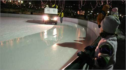 Every hour, the rink is temporary closed for 10-15 minutes so that a Zamboni can resurface and refresh the ice and producing optimal skating conditions.