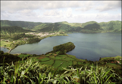 Lake of the Seven Cities (for the lost cities of Atlantis) and the surrounding area on São Miguel are in the crater of a volcano.