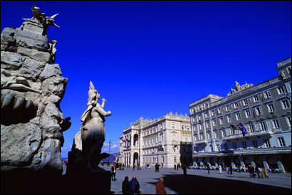 The Piazza dell'Unita d'Italia in Trieste, Italy, where James Joyce moved in 1905, when he was 23.