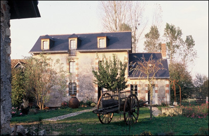 Innkeeper and artist Jonathan Robinson has worked for years on restoring the main building at Le Moulin Brégeon, an old water mill, where the top-floor suite is called Le Grenier.