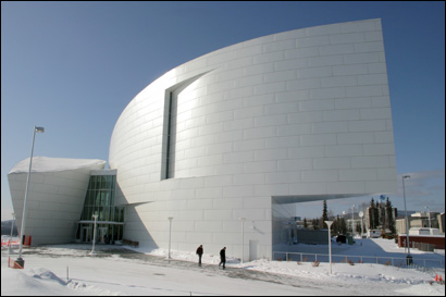 The University of Alaska Museum of the North on the Fairbanks campus.