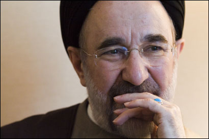 Former Iranian president Mohammad Khatami sat down yesterday for an interview with the Globe.