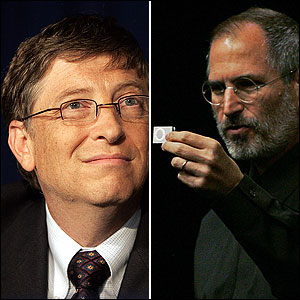 This week, BostonWorks' Corporate Curmudgeon columnist Dale Dauten asks 'Would you rather be Steve or Bill?' In order to help you answer this question, we've put together a timeline of key events in Bill Gates and Steve Jobs' lives.