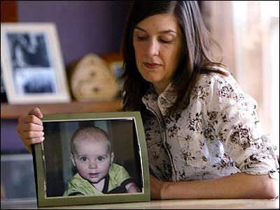 Jennifer Crowley still feels the pain of losing her 6-month-old son, Cian, to cancer. Her co-workers donated sick time so she could take care of him when he was sick.