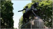 Paul Revere statue panorama