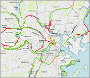Map: Off-street bikeways for Boston cyclists