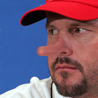 Some fans were stirred to action after Roger Clemens was named in the Mitchell Report last week and they sent their photoshopped Rocket images to Boston Dirt Dogs. Here, Amy Wasylyk is convinced that Roger Clemens isn't telling the truth when it comes to his recent denial of the report findings, which included allegations that Clemens used performance-enhancing drugs.