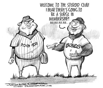 Sports cartoonist Frank Galasso believes that Clemens has joined some exclusive company and more members are joining daily.