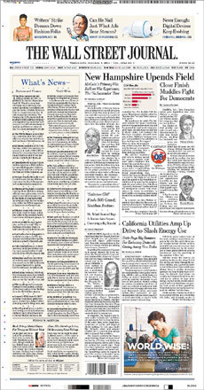 The Wall Street Journal focused on the upending of the races.