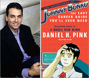 You've seen career advice books before, but have you ever encountered a career advice comic book? Author Daniel H. Pink's latest book, ' The Adventures of Johnny Bunko: The Last Career Guide You'll Ever Need ,' is just that: a business book crafted in the style of the Japanese comic style known as manga. Pink, author of two previous books on working in the 21st century – 'Free Agent Nation' and 'A Whole New Mind' – teamed up with Illustrator Rob Ten Pas for this unique book on career advice. The book follows the title character, Johnny Bunko, as he reaches a crossroads in his work life, and eventually learns six lessons for career success. Read on for a few of them.