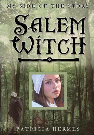 Salem Witch by Patricia Hermes It is colonial Massachusetts in 1692, right in the middle of Salem's infamous witch hysteria. Hermes offers us two different sides of these dramatic events, one from a young woman named Elizabeth who confronts accusations of witchcraft and one from George, the son of a judge overseeing the witch trials. As these two young people try to understand what's happening, readers get a fresh perspective on a community in crisis. The book's unique format allows readers the opportunity to read Elizabeth's side of the story first and then flip the book over to read George's.