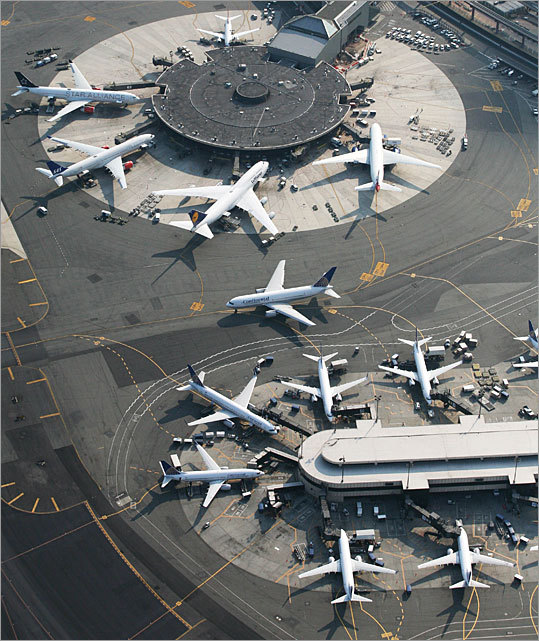 Newark International Newark Rank (large): 20 of 20 The large airports category includes airports that serve 30 million or more passengers per year.