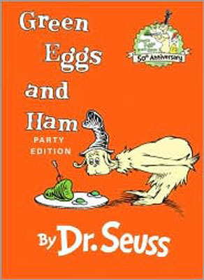 'Green Eggs and Ham' By Dr. Seuss Conservative theme: A tireless marketer refuses to take no for an answer, and is ultimately rewarded for his gumption. Liberal theme: A stubborn protagonist learns to be open-minded and appreciate the things that someone else likes.