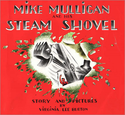 'Mike Mulligan and His Steam Shovel' By Virginia Lee Burton Conservative theme: A hard-working solo entrepreneur opts out of wage and hour laws and, through sheer honest effort, overcomes a scheming government official. Liberal theme: A marginalized worker uses a public-works job as a steppingstone to steady government employment, while finding a way to conserve and recycle outmoded equipment.