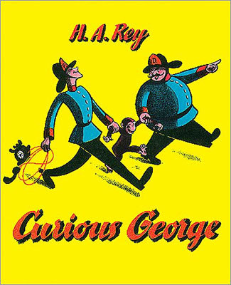 'Curious George' By H.A. Rey Conservative theme: In a parable of the virtues of colonialism, a monkey is brought from the wilderness into civilization, where he learns he has to pay for the things he wants, and then settles comfortably into a zoo. Liberal theme: In an anticolonialist parable, a monkey is brought from the wilderness into civilization, where his natural ways are misunderstood by the forces of law and order, leading to his arrest and defiant escape from jail.