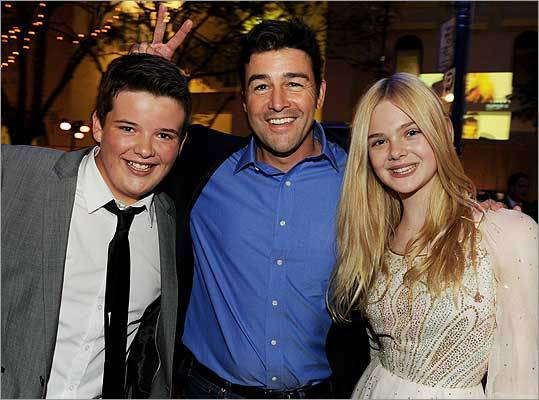 Riley Griffiths, Kyle Chandler and Elle Fanning