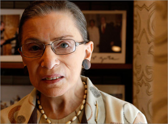 Supreme Court Justice Ruth Bader Ginsburg Ginsburg, the Supreme Court's oldest justice, was diagnosed with pancreatic cancer in 2009 and had surgery the same year to remove a cancerous tumor from her pancreas.