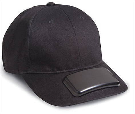 MP3 cap Price: $ 29.95 For the person who loves to groove to tunes while exercising, but hates headphone or earbuds, the MP3 cap has an MP3 player and speakers built into the hat.
