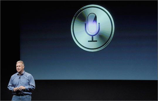 Siri Unveiled: 2011 The biggest upgrade of the iPhone 4S was Siri, the phone's voice control system. Siri can read your calendar, text messages, and make recommendations to you based on the your commands or questions. The voice controls can answer requests, such as 'How many days are there until Christmas?' and 'Define mitosis.'