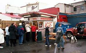 You may be wondering why I have a photograph of the Bæjarins Betzu hot dog stand here, but the Icelanders are crazy about these treats. The hot dogs are made with famous Icelandic lamb and are topped with all sorts of interesting sauces. Tasty!