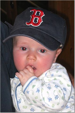 This is my nephew Will J. who is 4 months old. Although my brother and his wife live in Boulder Colorado they are still die hard Red Sox fans, and clearly so is the newest addition to the family!!!