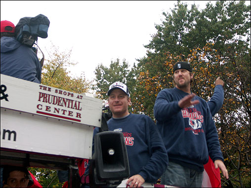 Sherry Lawrence sent in this photo of Sox pitchers Curt Schilling and Derek Lowe.