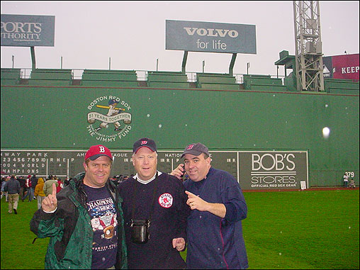 John J. Pickering took this photo at Fenway Park before the parade began.
