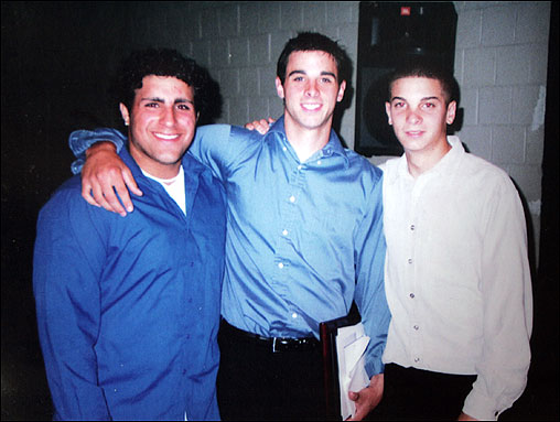 To be part of Allison's inner circle was to be caught up in the kind of intensely local fame that is often part of life in smaller cities and towns. Allison (center) with two of his lifelong friends, Artie Generazzo (left) and Bobby Celentano.