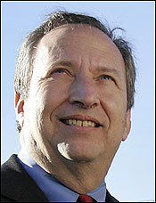 Lawrence H. Summers said he sought to be provocative.