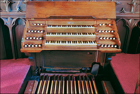 Afficionados praised the sound of the First Baptist Church's organ, built in 1859 by E. & G.G. Hook of Boston.