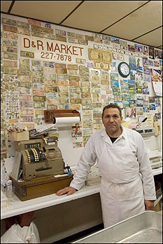 Peter Rossi has been selling fresh meats from his D & R Market on Salem Street for 30 years.
