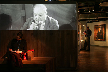The new Churchill Museum in London, with its high-tech bells and whistles, is ''truly a 21st-century museum about a 20th-century giant,'' says Churchill biographer David Reynolds.