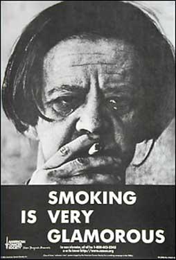 'Glamorous' smoking poster