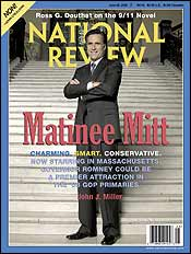 Governor Mitt Romney appeared on the cover of the National Review that includes an interview with adviser Michael Murphy.