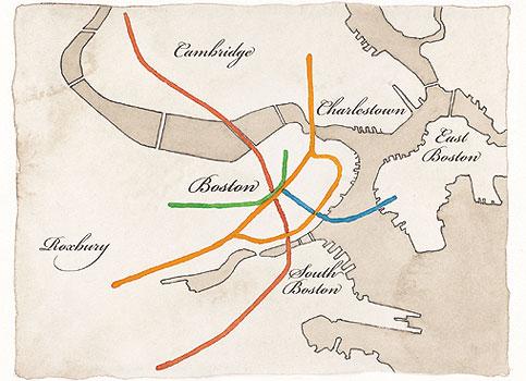 Cambridge Subway Map.History Of The Boston Subway Boston Com Ideas News