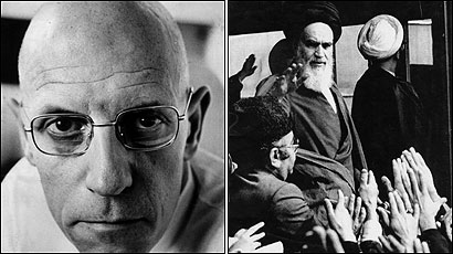 Philosopher Michel Foucault (left), in reports from Tehran in 1978, praised the Ayatollah Khomeini as reflecting ''the perfectly unified collective will'' of the Iranian people.