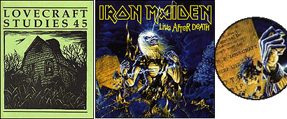 FOOTNOTES. While scholarly journals wrestle with the semiotics of Lovecraft's tale ''Fungi From Yuggoth,'' metal bands like Metallica and Iron Maiden cite him in songs and on album covers.