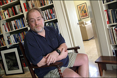 Michael Murphy, a political consultant to Governor Mitt Romney and others, at home in Los Angeles last month.