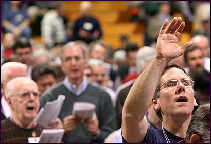GOD AND MAN: At the first annual Catholic Men's Conference, held in Boston in March, the 2,200 attendees were urged to be 'the spiritual leaders' of their homes.
