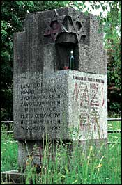 defaced monument