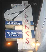 The sign outside of Redbones