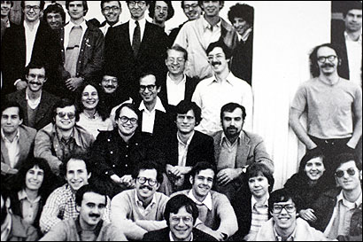 John G. Roberts (third row, sitting second from right) with members of the Harvard Law Review group.
