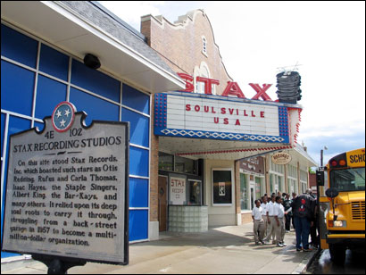 The Stax Museum of American Soul Music captures the history of the record label that broke barriers with racially mixed groups and a unique sound.