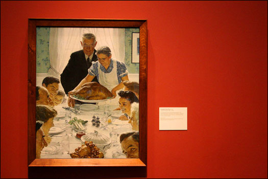Rockwell painted 'Freedom from Want' in 1943 as part of his illustration series of Franklin D. Roosevelt's famous 'Four Freedoms' (freedom of speech, freedom to worship, freedom from want, and freedom from fear).