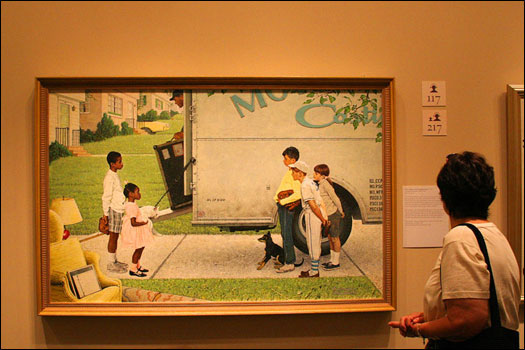 Many of Rockwell's paintings carefully depict scenes from the Civil Rights movement in the 1960s.