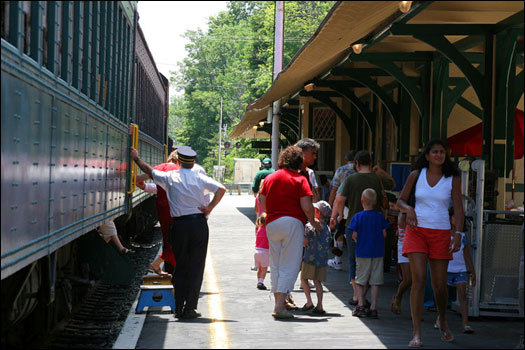 The Berkshire Scenic Railroad trains run from late May to early September. Be sure confirm dates, times and costs before you plan your trip. Berkshire Scenic Railroad