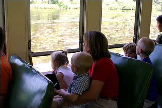 Scenic railway rides are a popular family activity.